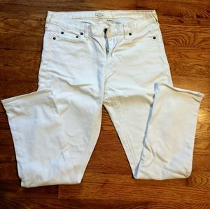 J.crew white jeans 31 short straight leg
